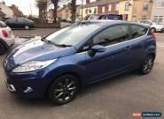 2009 ford fiesta 1.2 zetec 3 door hatchback blue metallic alloys  for Sale