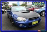 Classic 2003 Subaru Impreza MY03 RX (AWD) Blue Manual 5sp M Sedan for Sale