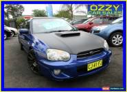 2003 Subaru Impreza MY03 RX (AWD) Blue Manual 5sp M Sedan for Sale