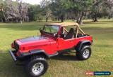 Classic 1987 Jeep Wrangler Base Sport Utility 2-Door for Sale