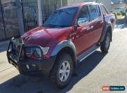 2006 MITSUBISHI TRITON GLX-R DUAL CAB 4X4 2.5L TURBO DIESEL LIGHT DAMAGED DRIVES for Sale