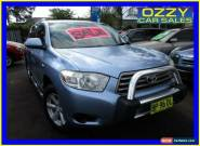 2008 Toyota Kluger GSU40R KX-R (FWD) 7 Seat Blue Automatic 5sp A Wagon for Sale