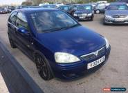 2004 VAUXHALL CORSA SRI 16V 1.8cc BLUE for Sale