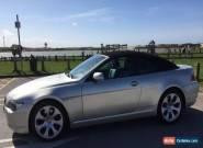 BMW 645 Ci, E64 CONVERTIBLE, SILVER, 6 SERIES for Sale