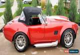 Classic Shelby: replica convertible for Sale