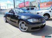2008 BMW 135I E88 Black Automatic 6sp A Convertible for Sale