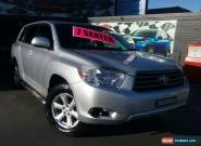 2010 Toyota Kluger GSU45R KX-R (4x4) 7 Seat Silver Automatic 5sp A Wagon for Sale