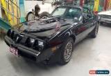 Classic PONTIAC TRANS AM ORIGINAL 41 MILES STUNNING BLACK ON BLACK  T TOP for Sale