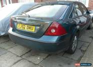 2002 FORD MONDEO ZETEC TDCI GREEN for Sale