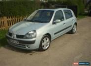 AUTOMATIC 2003 RENAULT CLIO PRIVILEGE 16V SILVER for Sale