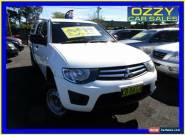 2010 Mitsubishi Triton MN MY10 GLX White Automatic 4sp A Double Cab Utility for Sale
