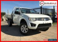 2010 Mitsubishi Triton MN MY10 White Manual 5sp M Cab Chassis for Sale