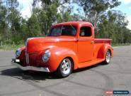 "1941 FORD PICKUP 350 SBC 700R 9"" MUSTANG II IFS FRONT DISC BRAKES FULL NSW REGO for Sale"