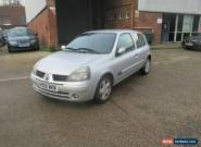 2005 RENAULT CLIO EXTREME 16V SILVER spares or repairs for Sale