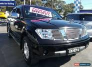 2008 Nissan Navara D40 ST-X (4x4) Black Automatic 5sp A Dual Cab Pick-up for Sale