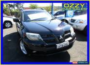 2004 Mitsubishi Outlander ZF VR-X Black Automatic 4sp A Wagon for Sale
