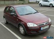2004 VAUXHALL CORSA LIFE TWINPORT S-A RED for Sale