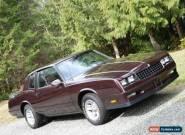 1986 Chevrolet Monte Carlo for Sale