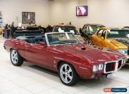 1969 Pontiac Firebird Burgundy Automatic A Convertible for Sale