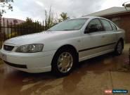 Fold Falcon Futura 2002, white 4 door sedan, V6, automatic (BA), Petrol and Gas for Sale