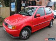 1999 (S Reg) VW Polo 1.4 CL Auto Red 5 Door Long MOT Low Mileage Automatic Car for Sale