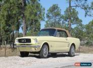 1966 Ford Mustang Convertible With A/C for Sale