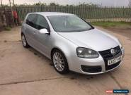 2007 VW GOLF GT 2.0TDI 140bhp 6 speed SPARES OR REPAIR  for Sale
