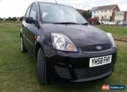 ##  2008  5 DOOR  FORD FIESTA STYLE CLIMATE  BLACK  '58PLATE' LOW MILEAGE  ## for Sale