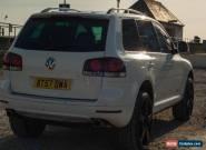 2007 VOLKSWAGEN TOUAREG SE TDI V6 225 A WHITE for Sale