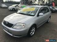 2003 Toyota Corolla ZZE122R Ascent Seca Silver Automatic 4sp A Hatchback for Sale