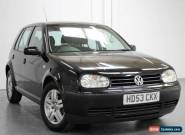 2003/53 VOLKSWAGEN GOLF 1.6 MATCH AUTO HATCHBACK, BLACK, NEEDS ENGINE REPAIR !! for Sale