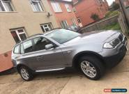 BMW X3 2.0 diesel 6 speed in Metallic Grey  for Sale