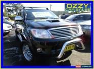2007 Toyota Hilux KUN26R 07 Upgrade SR5 (4x4) Black Automatic 4sp A for Sale
