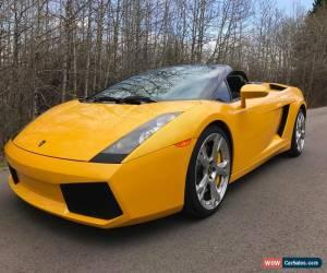 Classic Lamborghini: Gallardo Spyder for Sale