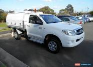 2009 Toyota Hilux KUN26R 09 Upgrade SR (4x4) White Manual 5sp M Cab Chassis for Sale