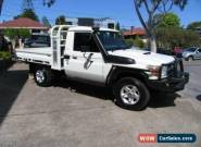2010 Toyota Landcruiser VDJ79R MY12 Update GXL (4x4) White Manual M Cab Chassis for Sale