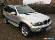2004 BMW X5 FACELIFT SPORT 3.0D DIESEL AUTO AUTOMATIC SILVER LOW MILEAGE E53 4X4 for Sale