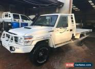 2016 Toyota Landcruiser VDJ79R MY12 Update GXL (4x4) White Manual M Cab Chassis for Sale