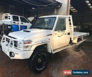 Classic 2016 Toyota Landcruiser VDJ79R MY12 Update GXL (4x4) White Manual M Cab Chassis for Sale