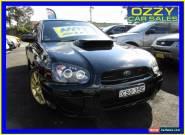 2004 Subaru Impreza MY05 WRX STI Black Manual 6sp M Sedan for Sale