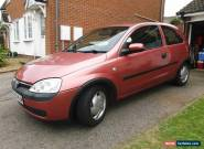 "2001,VAUXHALL CORSA ""COMFORT"" 1.4 AUTOMATIC,SMART COPPER METALLIC VERY LOW MILES for Sale"