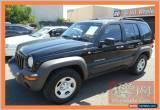 Classic 2004 Jeep Cherokee KJ Sport (4x4) Black Manual 5sp M Wagon for Sale