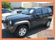 2004 Jeep Cherokee KJ Sport (4x4) Black Manual 5sp M Wagon for Sale