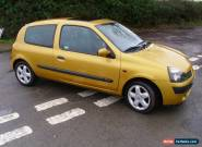 2001 RENAULT CLIO DYNAMIQUE 16V YELLOW for Sale