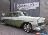 1956 CHEVROLET BELAIR 4 DOOR SEDAN V8  / AUTO LHD RUNNING PROJECT  for Sale