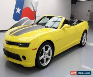 Classic 2015 Chevrolet Camaro LT Convertible 2-Door for Sale