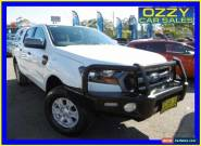 2015 Ford Ranger PX XLS 3.2 (4x4) White Automatic 6sp A Dual Cab Utility for Sale