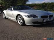 """BMW Z4 2.5lt silver 2006 06 reg, 18"""" alloys, Bluetooth  for Sale"""