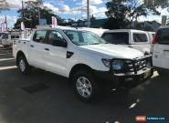2013 Ford Ranger PX XL 2.2 (4x4) White Manual 6sp M Crew Cab Utility for Sale