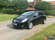 VAUXHALL CORSA SXi 1.2 PETROL, BLACK, 3 DOOR, 2010 MODEL for Sale